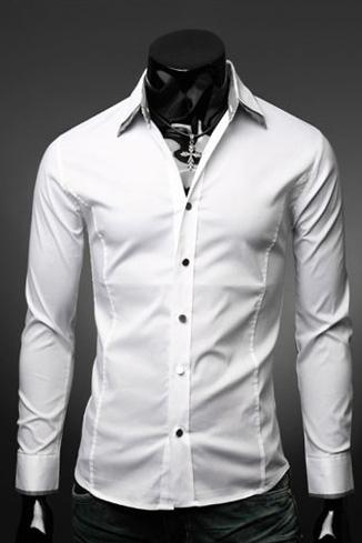 Белая рубашка мужская – купить недорого в интернет-магазине Men s Club b423852e41cd9