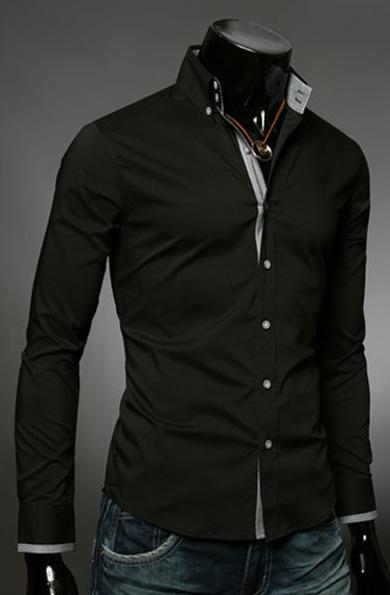 9ffe7624c8253d4 Классическая черная рубашка Essence - 1430 руб. - купить в Москве ...