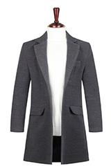 Однобортное мужское пальто.