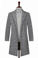 Стильное пальто серого цвета