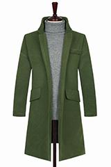 Мужское пальто оливкового цвета