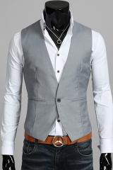 Серый мужской жилет