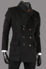 Классическое пальто с двумя рядами пуговиц
