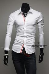 Рубашка белая со строчкой триколора T.S Justin