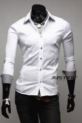 Белая модная рубашка T.S Justin