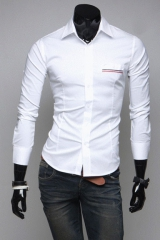 Мужская рубашка белая T.S Justin
