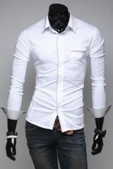 Элегантная мужская рубашка белая T.S Justin