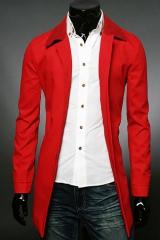 Красное модное мужское пальто A.C. Justin