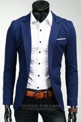 темно-синий мужской пиджак