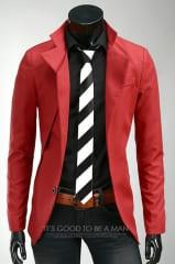 Красный пиджак мужской A.C. Home