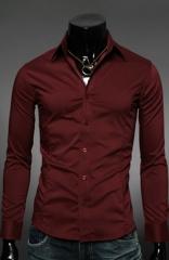 Классическая красная мужская рубашка Essence