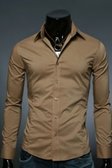 Классическая коричневая рубашка Essence