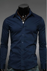 Темно-синяя мужская рубашка Essence