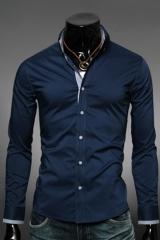 Синяя классическая рубашка Essence