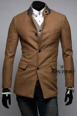 Мужское пальто с воротником-стойкой A.C.