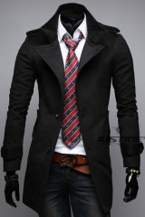 Классическое пальто шерсть/вискоза A.C. Justin