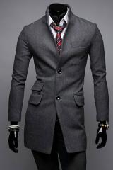 Классическое пальто мужское из вискозы