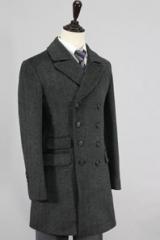 Двубортное пальто для мужчин, классика