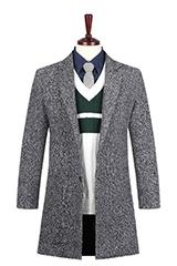 Пальто мужское на пуговице