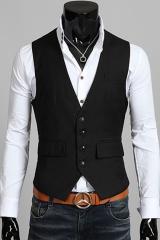 Черный жилет с карманами