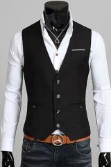 Черный мужской жилет