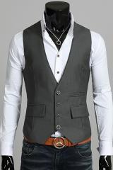 Серый жилет под джинсы