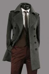 Мужское двубортное пальто Le Gen