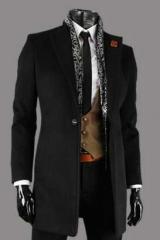 Мужское классическое пальто черное  Le Gen