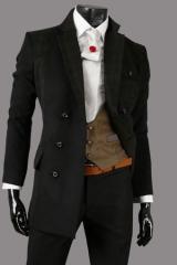 Двубортное пальто классического дизайна Le Gen