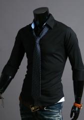 Черная рубашка с коротким рукавом Cleverley