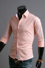 Мужская стальная рубашка с коротким рукавом Cleverley