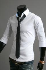 Белая рубашка с коротким рукавом Cleverley