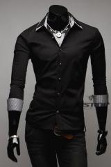 Стильная черная рубашка T.S Justin