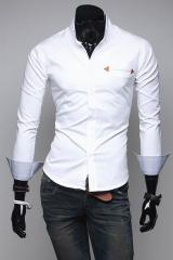Белая приталенная рубашка T.S Justin