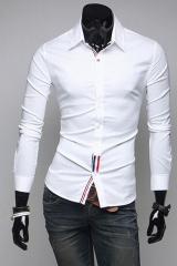 Белая рубашка с триколором T.S Justin