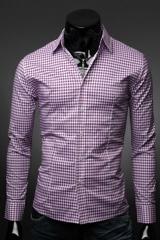 Классическая рубашка мужская в клетку Essence