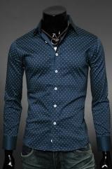 Приталенная рубашка мужская в клетку Essence