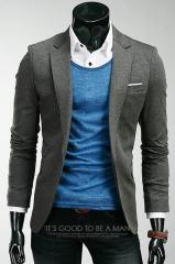 Приталенный кэжуал пиджак