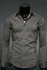 Серая классическая рубашка для мужчин Essence