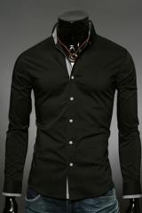 Классическая черная рубашка Essence