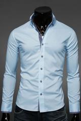 Классическая мужская голубая рубашка Essence