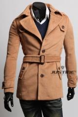 Пальто на пуговицах с ремешком A.C. Justin