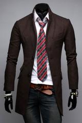 Длинное мужское классическое пальто