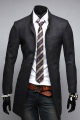 Классическое пальто мужское на пуговицах