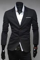 Мужской черный пиджак A.C. Home