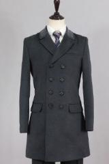 Классическое темно-серое пальто для мужчин