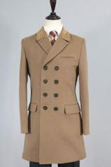 Длинное коричневое пальто мужское Le Gen