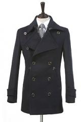 Двубортное пальто, классика