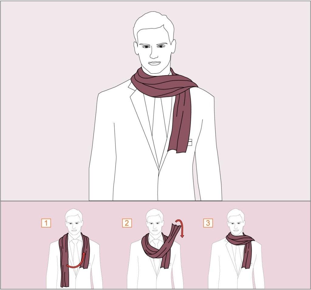 брючный способы завязывания шарфов для мужчин в картинках выпад навлечет